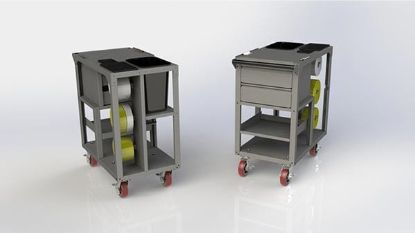 Mobile POS Carts & Warehouse Terminal Carts